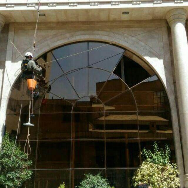 تعویض شیشه بدون داربست